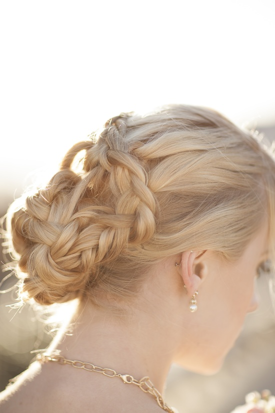 Romantic braided wedding updo bridal hairstyles