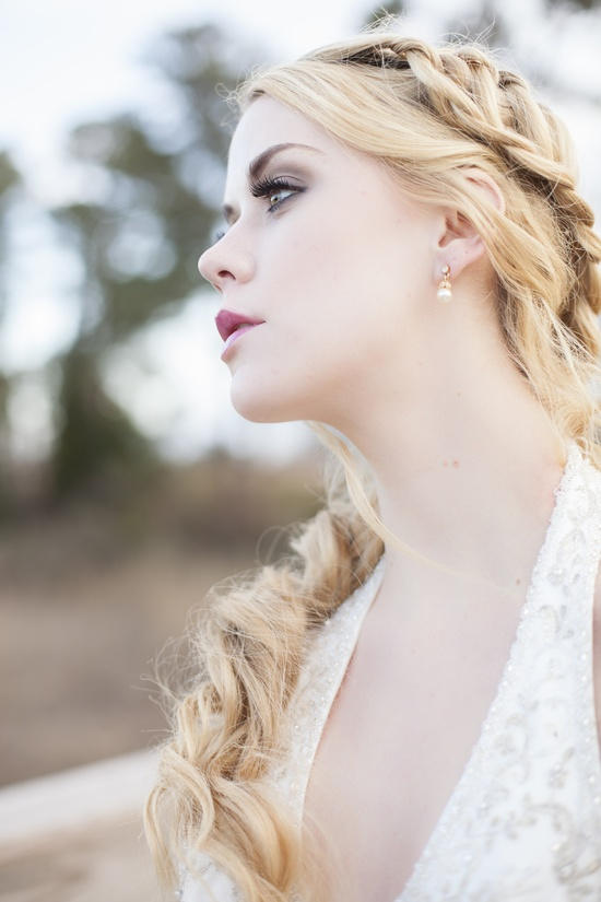 Bridal beauty romantic wedding hair and makeup