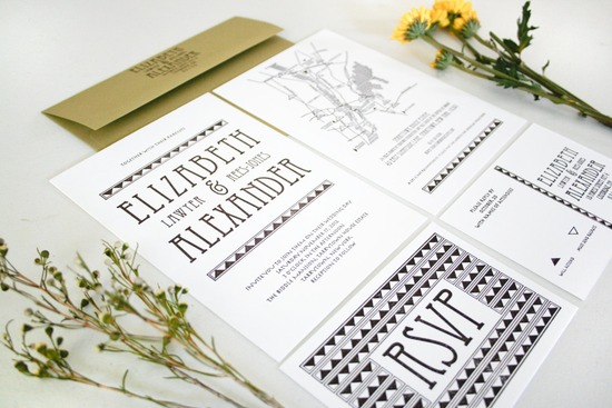 art nouveau wedding invitations 1