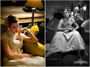 photo of Rock 'n Roll Bride: Vintage, Timeless Wedding Photography Captures Elegant Bride