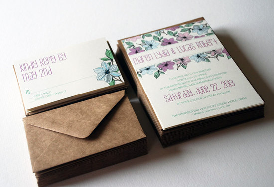 Gorgeous garden wedding invitations for Spring 1