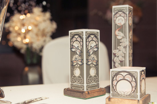Art Nouveau Wedding Table Accents Lighting