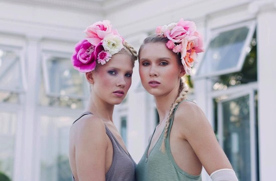 Oversized hair flowers for garden bridesmaids