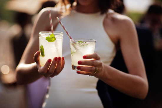 Cool refreshing signature wedding drinks