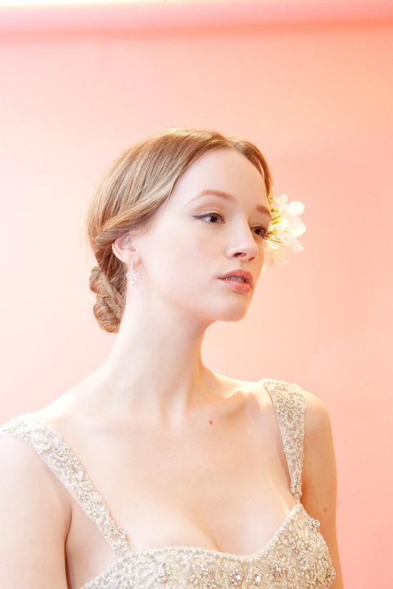 photo of Beautiful Wedding Hair + Makeup Hot Off the Bridal Catwalks