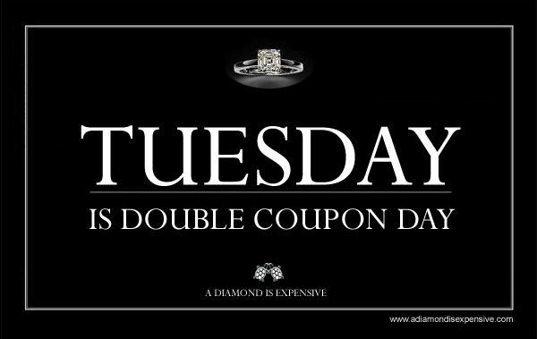Just Remind Her- Tuesday is Double Coupon Day