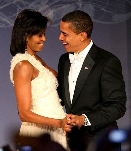 President Barack Obama in black tuxedo, white bow tie and shirt