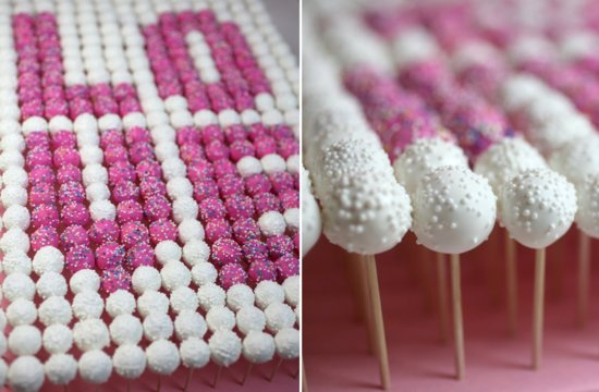 Cake Pop Display for Wedding Reception