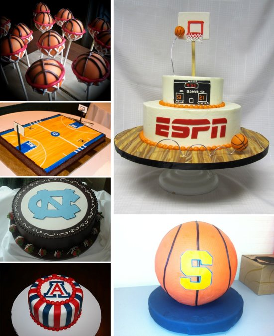 March Madness Grooms Cakes