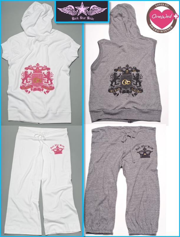 Rock-star-bride-white-grey-fuschia-black-gold-hoody-sweatpants-for-brides-to-be.full