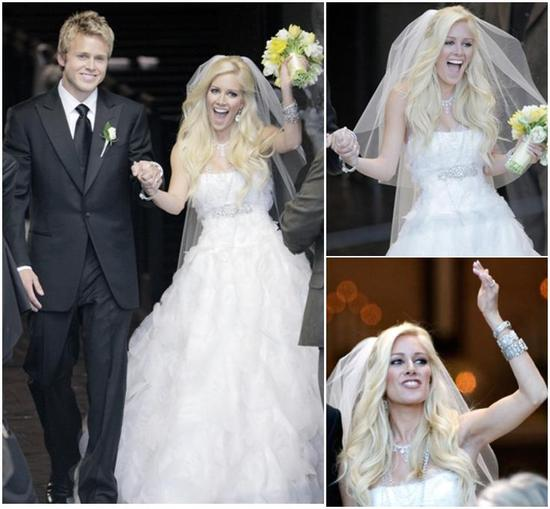 Heidi Montag marries Spencer Pratt- Monique Lhuillier dress, Neil Lane diamonds