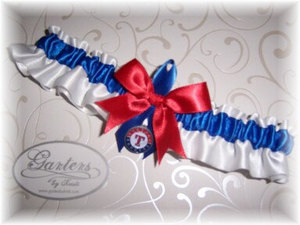 photo of Texas Rangers Garter by Etsy Seller Garters by Kristi.