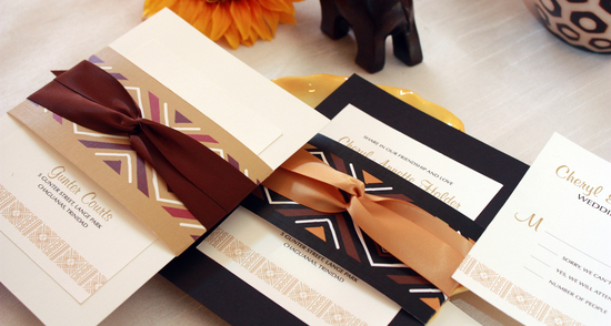 Neutral beautiful wedding invitations