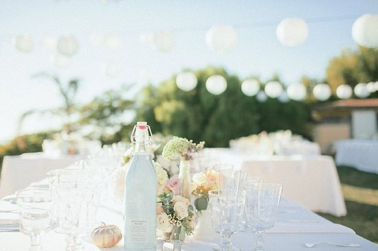 Pastel Bottles for Outdoor Wedding