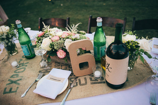 Rustic romance wedding tablescape