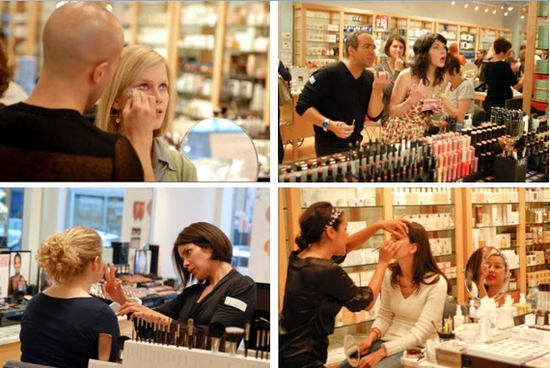 Make-up artists from Nars, Trish McEvoy, Bobbi Brown and Laura Mercier beautify our guests