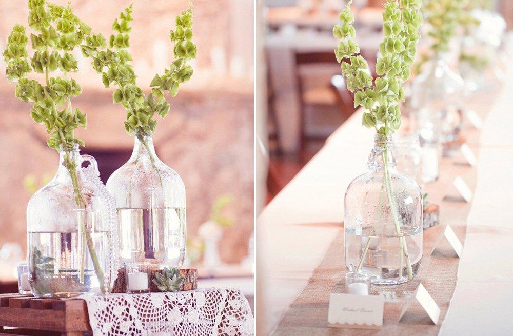 Vintage-bottles-hold-green-wedding-flowers.full
