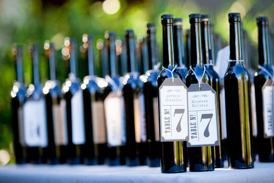 Unique bottle wedding table numbers