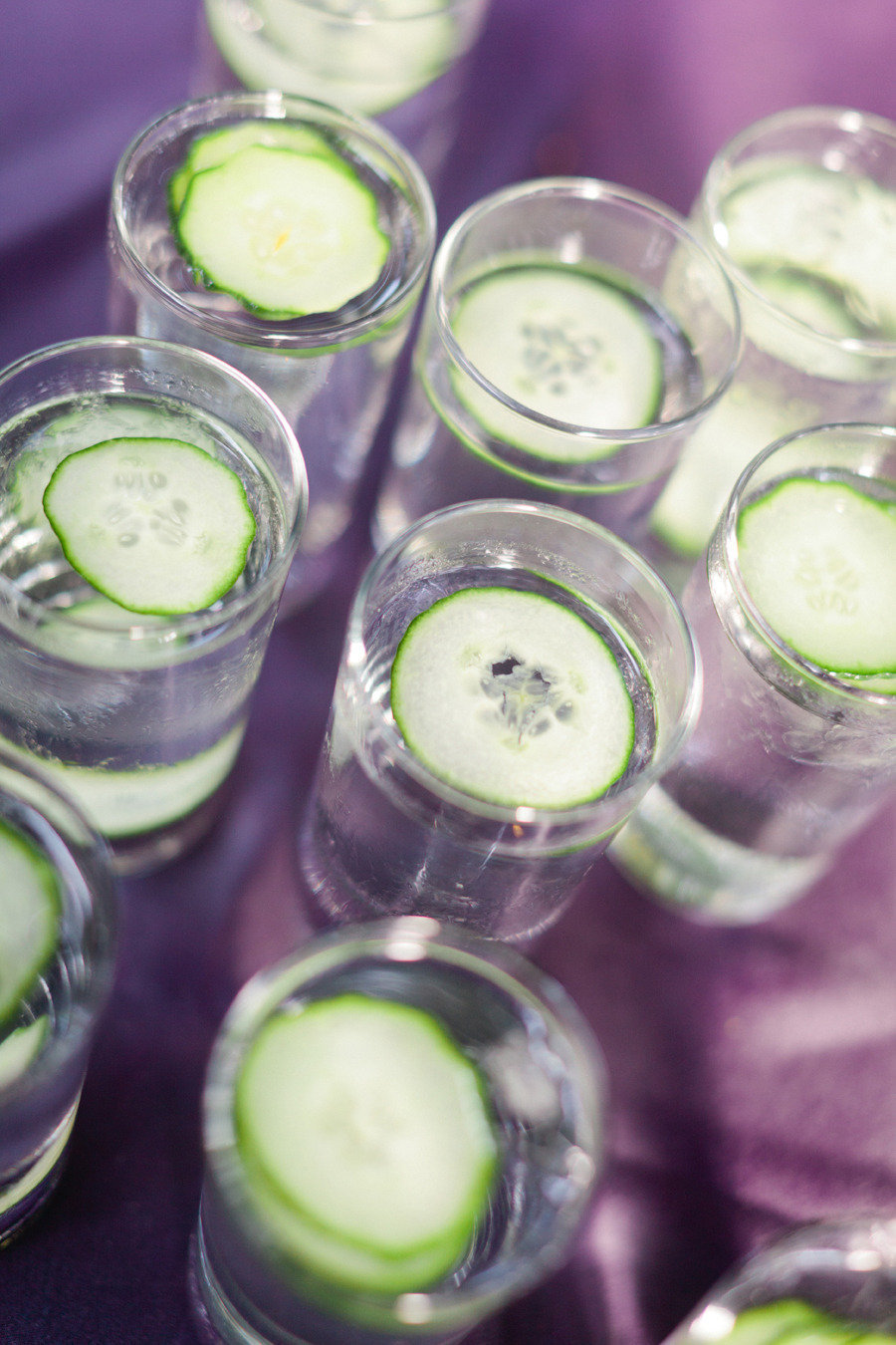 Cucumber Water for Wedding Reception Refreshments
