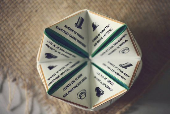 Fortune Teller wedding cootie catchers