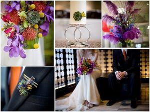 photo of Bright, Vibrant Florals for your Modern Wedding by La Petite Fleur