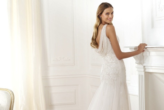 Laberne beaded wedding dress by Pronovias