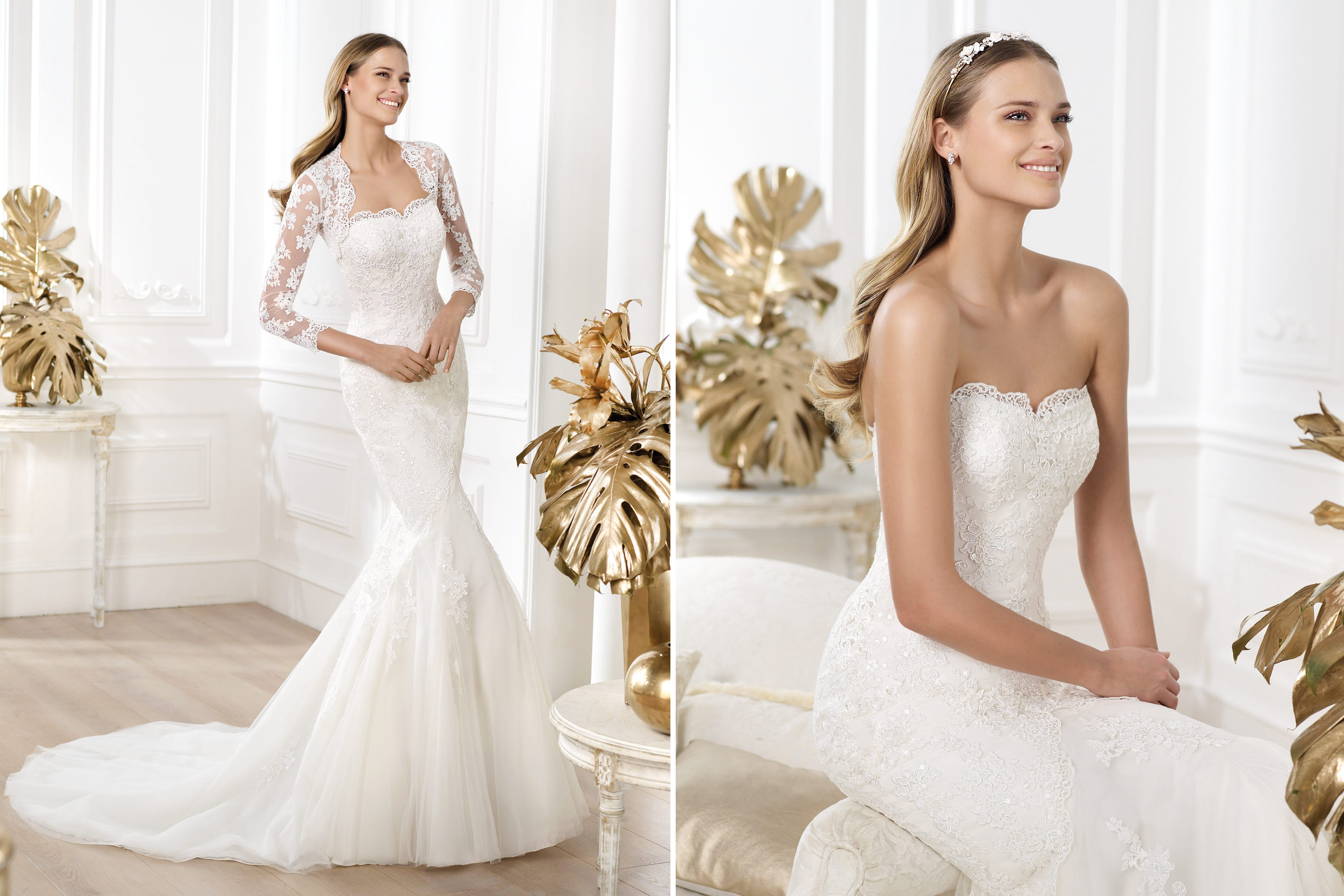 Pronovias wedding dress pre 2014 fashion bridal lanete for Italian design wedding dresses