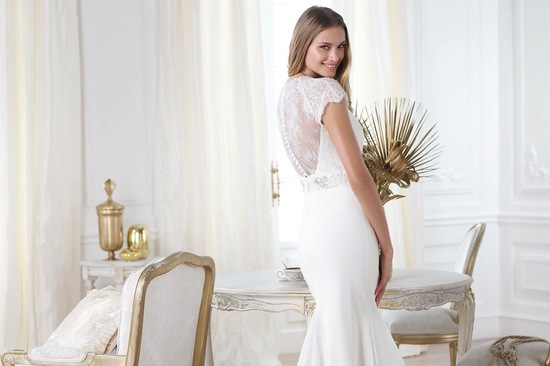 Lace back wedding dress Laila by Pronovias