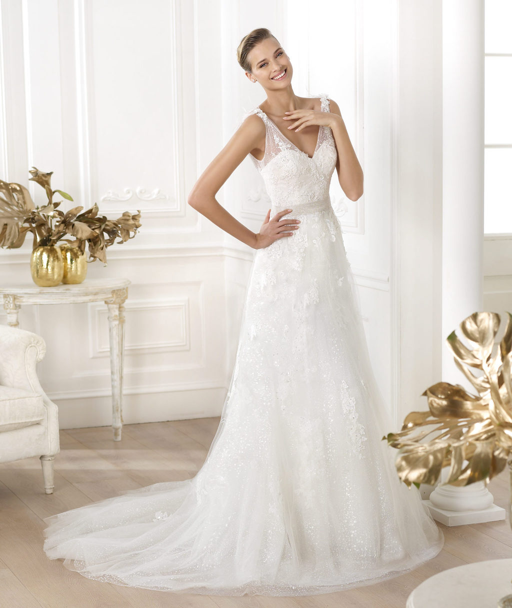 Pronovias wedding dress pre 2014 Glamour bridal collection Laurete
