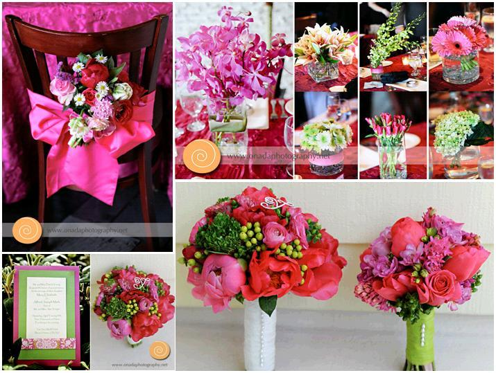 Onada-photography-pink-bow-pnk-red-green-ivory-flowers-bouquet.full