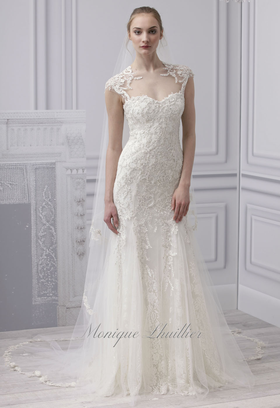 Bride Chic 5 Trends for Fall 2014 Modern Lace Monique Lhuillier