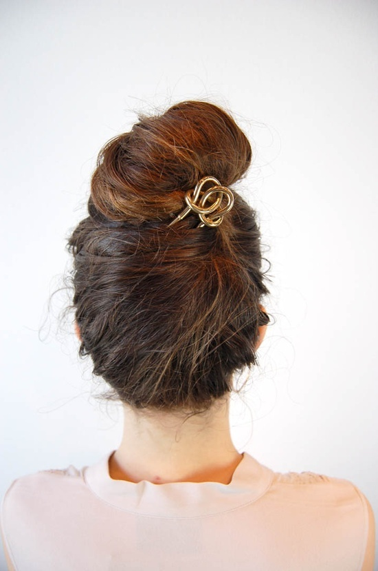 Top Knot Romantic Wedding Hairstyle 5