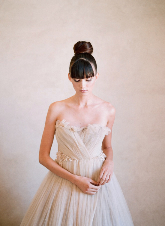Top Knot Romantic Wedding Hairstyle 6
