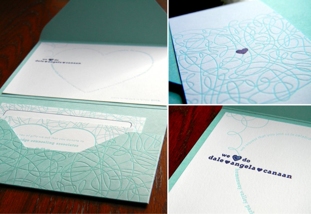 Letterpress wedding stationary
