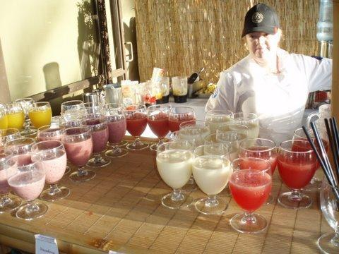 Tasty smoothie and juice bar will keep wedding guests happy and hydrated