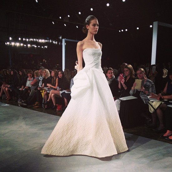 instagram onewed wedding dress bridal week monique lhuillier