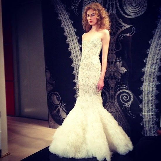 instagram onewed wedding dress bridal week reem acra