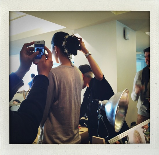 photo of Backstage at Oscar de la Renta
