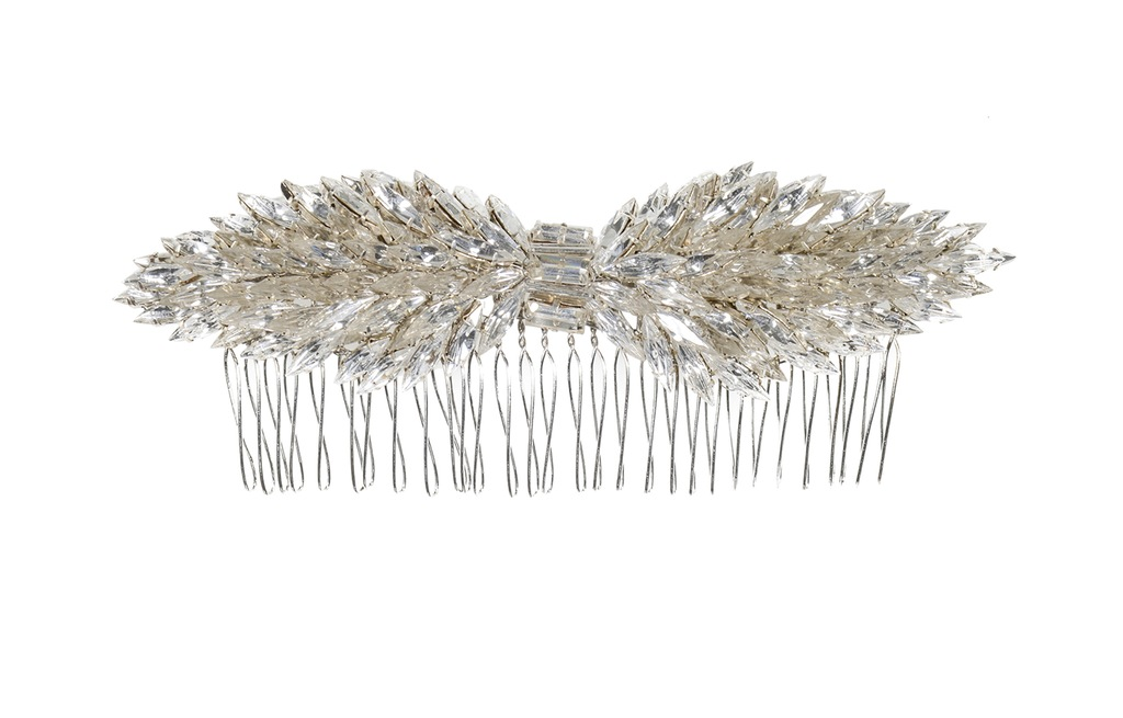 Jenny Packham Wedding Accessories Spring 14 Bridal Navette crystal hair comb