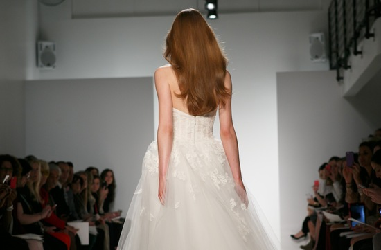 Christos Bridal Spring 2014 All down wedding hair