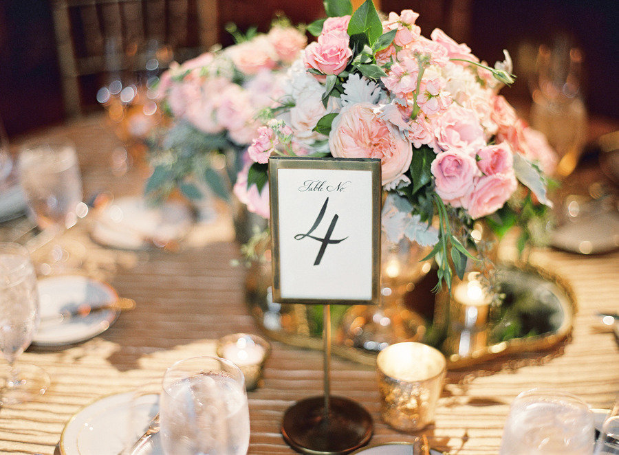 Spring wedding centerpiece elegant table numbers onewed com