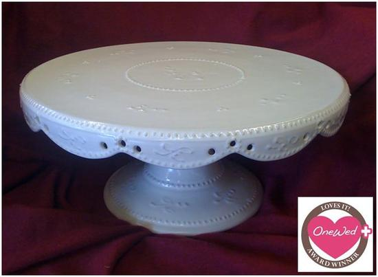 16 white wedding cake stand onewed this handmade one of a antique white 10071