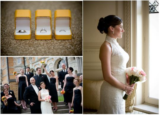 Featured-wedding-ideas-rings-yellow-boxes-pink-white-bouquet-yellow-bouquets-black-bridesmaids-dresses.full