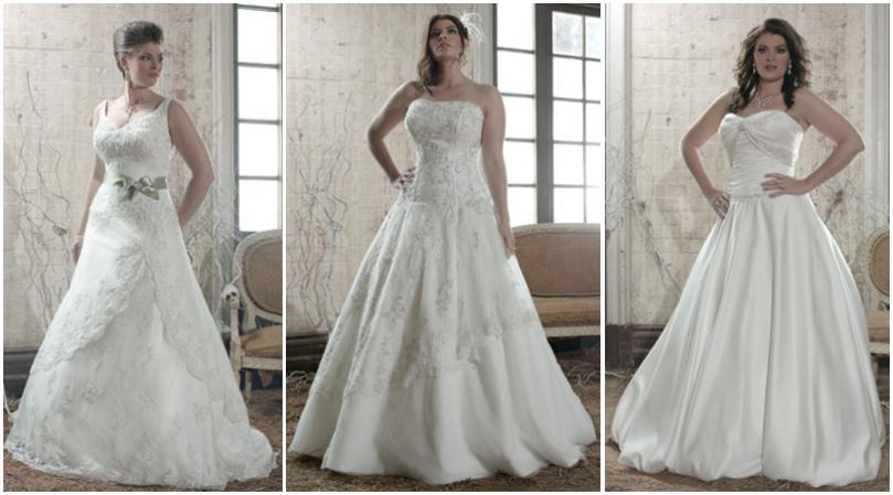 Beautiful wedding dresses for all sizes from Bridal TM's Glamour Plus