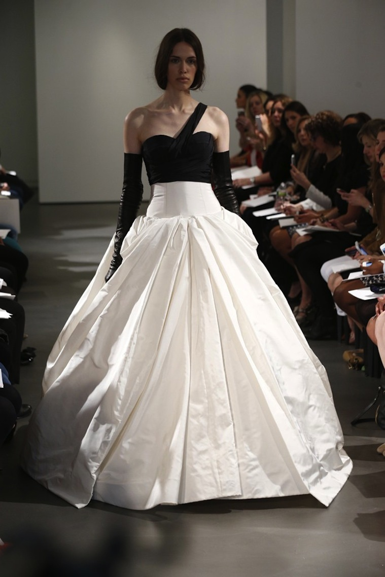 Black and white vera wang wedding dress
