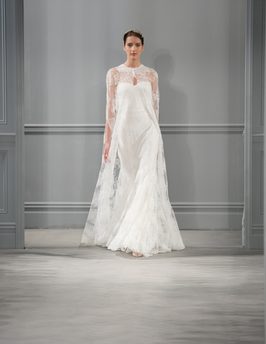 Spring 2014 lace Monique Lhuillier wedding dress