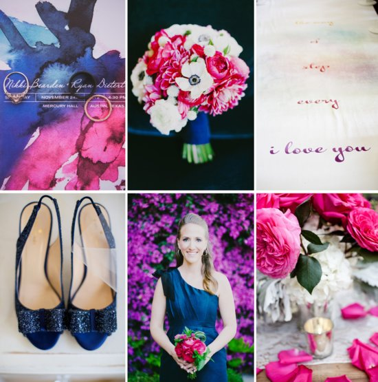Navy Fuschia Plum wedding color inspiration