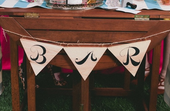Wooden Bar wedding sign