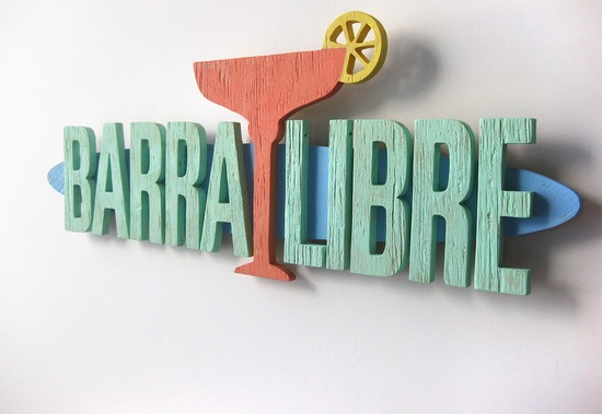 Barra libre wedding sign