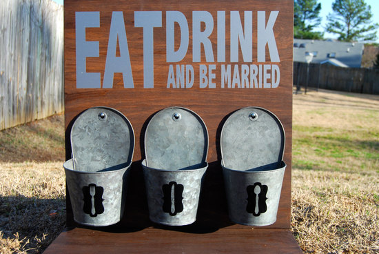 Barn wedding rustic reception sign
